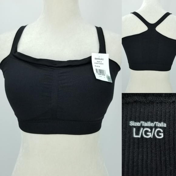 Rene Rofe Women/'s Bralette Top Bra Small Large Black Seamless Lace Stretch New